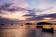 Lever de soleil d'île Photo libre de droits