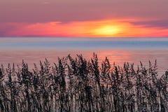 Lever de soleil d'île de Cana Image libre de droits
