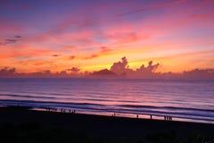Lever de soleil d'île de tortue Photographie stock libre de droits