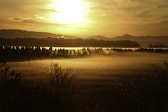 Lever de soleil d'or Photographie stock libre de droits