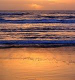 Lever de soleil d'or Photos libres de droits