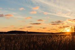 Lever de soleil d'or Photo libre de droits