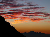 Lever de soleil d'Agung Images libres de droits
