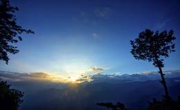 Lever de soleil d'Ali Mountain (Ali Shan, Taïwan) Image libre de droits