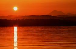 Lever de soleil d'Anacortes, Washington State Image libre de droits