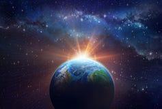 Lever de soleil d'Exoplanet Photographie stock libre de droits