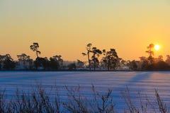 Lever de soleil d'hiver Photo stock