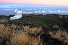 Lever de soleil d'observatoire, canari Photos libres de droits