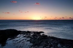 Lever de soleil d'océan à wollongong Images libres de droits