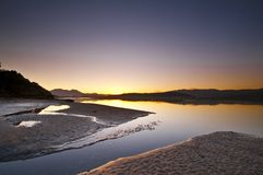 Lever de soleil d'océan Photos libres de droits
