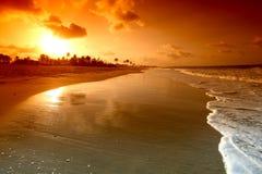 lever de soleil d'océan Images stock