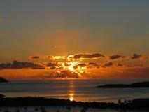 Lever de soleil d'USVI Images stock