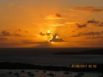 Lever de soleil d'USVI Photographie stock libre de droits