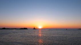 Lever de soleil dans Ahtopol Photographie stock