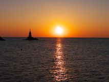 Lever de soleil dans Ahtopol Photographie stock libre de droits