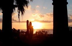 Lever de soleil dans Cabo Photos libres de droits