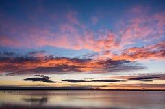 Lever de soleil dans Camargue Image stock