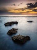 Lever de soleil dans Denia image libre de droits