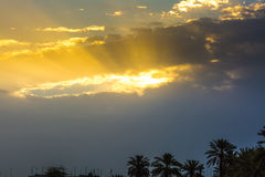Lever de soleil dans Doha Image stock