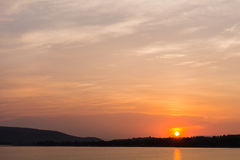Lever de soleil dans DOS Reis d'Angra Photographie stock
