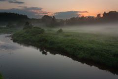 Lever de soleil dans DOS Reis d'Angra Image stock