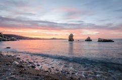 Lever de soleil dans Ibiza Photo libre de droits