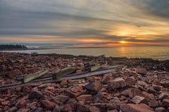 Lever de soleil dans l'Acadia Photo stock