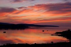 Lever de soleil dans l'Acadia Photographie stock