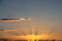 Lever de soleil dans l'Australie Photographie stock libre de droits