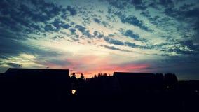 Lever de soleil dans l'automne tôt Photo stock