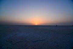 Lever de soleil dans l'Inde photos stock