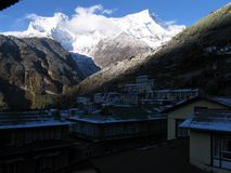 Lever de soleil dans la montagne Images libres de droits