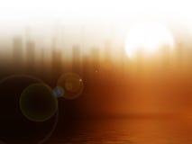 Lever de soleil dans la ville Image libre de droits