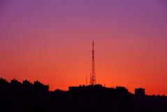 Lever de soleil dans la ville Photos libres de droits