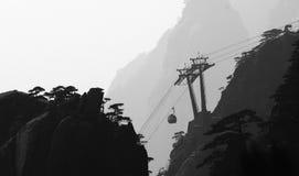 Lever de soleil dans le bâti Huangshan Images libres de droits