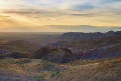 Lever de soleil dans le canyon photo stock