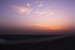 Lever de soleil dans le désert Photos stock