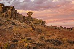 Lever de soleil dans le désert du Wyoming image libre de droits