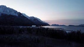 Lever de soleil dans le golfe d'Alaska banque de vidéos