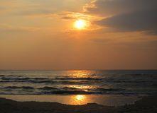 Lever de soleil dans le golfe de Thaïlande 4 Photos libres de droits