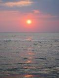Lever de soleil dans le golfe de Thaïlande 2 Photo libre de droits