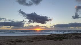 Lever de soleil dans le noosa Images libres de droits