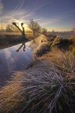 Lever de soleil dans le park9 photographie stock libre de droits