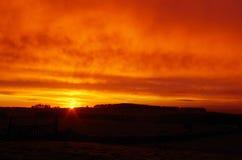 Lever de soleil dans le pays irlandais Photographie stock