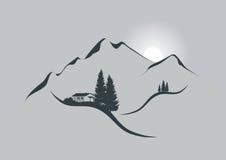 Lever de soleil dans les alpes illustration libre de droits