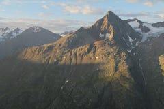 Lever de soleil dans les alpes otztal, Autriche Image stock