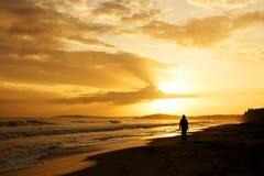 Lever de soleil dans les Caraïbe photo stock
