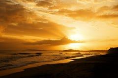 Lever de soleil dans les Caraïbe photo libre de droits