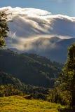Lever de soleil dans les montagnes Photo stock