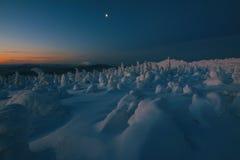 Lever de soleil dans les montagnes Images libres de droits